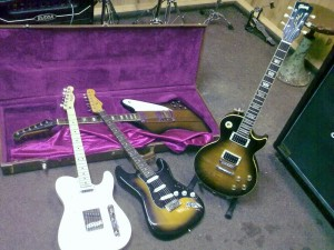 Open Space: Fender Telecaster, Fender Stratocaster, Gibson Les Paul Classic, Gibson Firebird